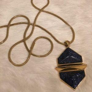 Vince Camuto Metallic Hexagon Pendant Necklace